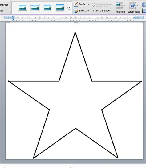 printable star a4 star template printable different sizes myideasbedroom com