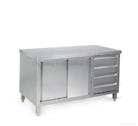 kitchen cabinet table stainless steel working table with cabinet 70c14 chutong china kitchen appliance