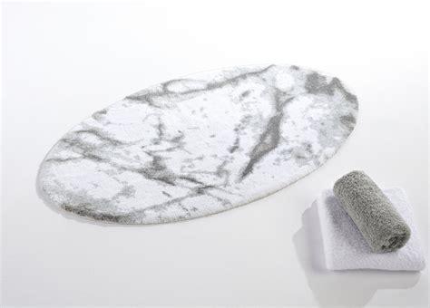 Habidecor Bath Rugs Abyss Habidecor Carare White Grey Marble Look Bath Rugs