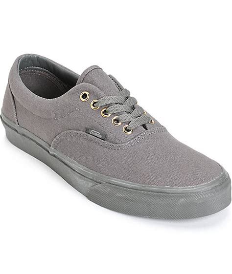 Vans Brownish Grey Shoes vans era mono skate shoes zumiez