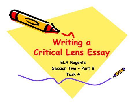 critical lens essay sle critical lens pt b