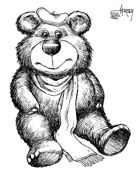 Join the bear hunt! Download these teddy bears to color