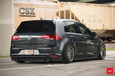 slammed volkswagen golf slammed beauty black vw golf gti on custom rims carid