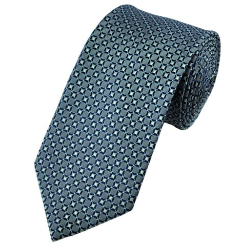 blue patterned ties silver blue patterned silk tie from ties planet uk