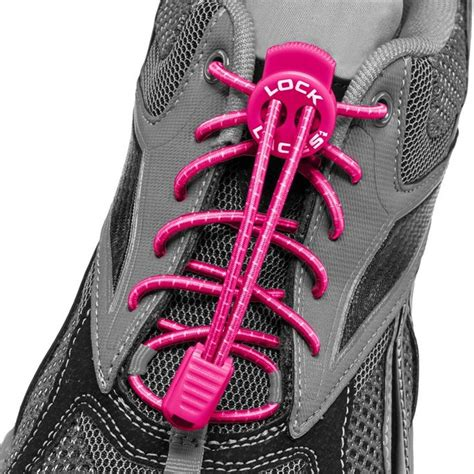 elastic shoe laces pink lock laces elastic no tie shoelaces