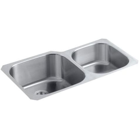 Scratch Resistant Kitchen Sinks Kohler Undertone Preserve Undermount Scratch Resistant Stainless Steel 35 In Bowl