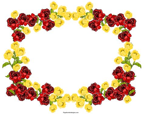 frame design flower clipart clipartxtras