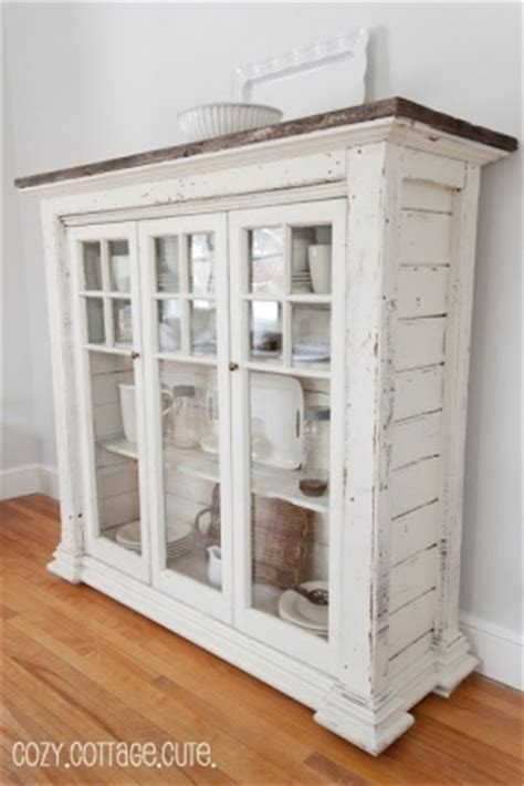 white shabby chic cabinet floor cabinets with glass doors foter