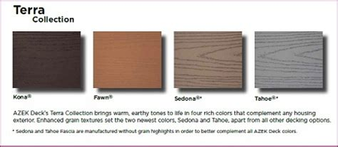 azek colors azek deck colors terra building materials supplies