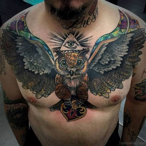 tattoo owl man 70 outstanding owl tattoos for chest