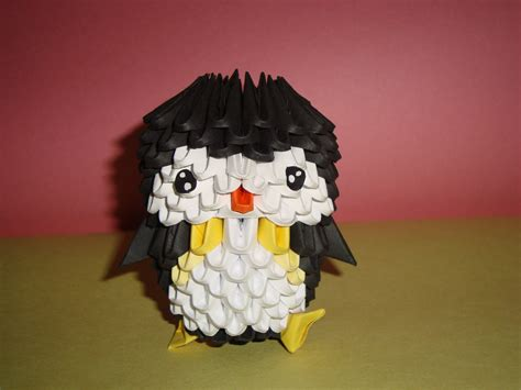3d Origami Penguin - 3d origami penguin by penguin4213 on deviantart
