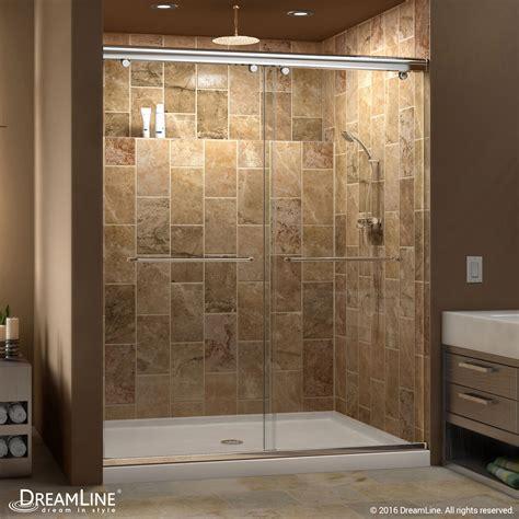 frameless bypass shower doors dreamline charisma frameless bypass sliding shower door
