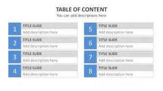 table of contents template powerpoint template powerpoint quot table of content quot
