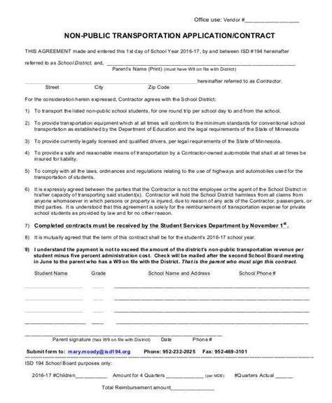 sle transportation contract forms 8 free documents in word pdf