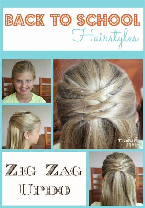 cute back to school hairstyles for short hair fun hair for back to school the crafting chicks