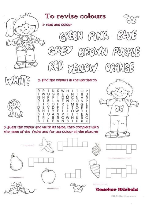 how are colors made to revise colours worksheet free esl printable