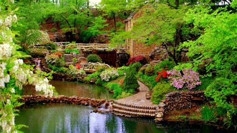 Beautiful Botanical Garden View Wallpaper Desktop Rock Garden