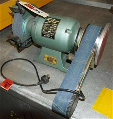 bench grinder linisher bench grinder linisher abbot ashby model atbg600 8m 900 watts 240 volt auction