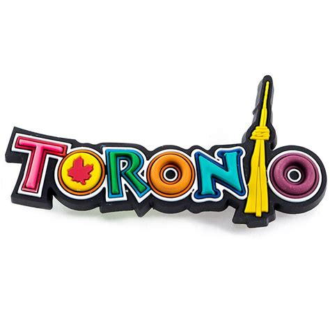 rubber st toronto canada souvenirs gifts rubber magnet toronto cn tower