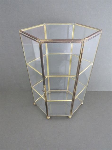 vintage table top glass display cabinet ebay