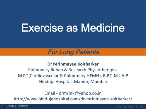 mp rehab webinar on exercise as medicine for lung patients