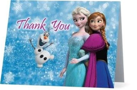 frozen thank you card template thank you card frozen theme