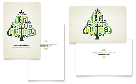Microsoft Office Greeting Card Templates Free by Seasonal Greeting Card Templates Word