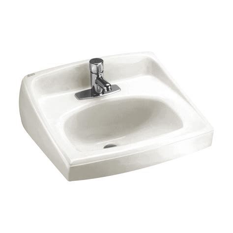 standard bathroom sink american standard lucerne wall mount bathroom sink in white 0356 421 020 the home depot