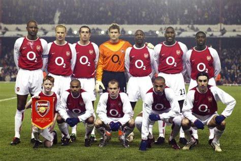 arsenal invincible team le rouge sans le noir d arsenal angleterre