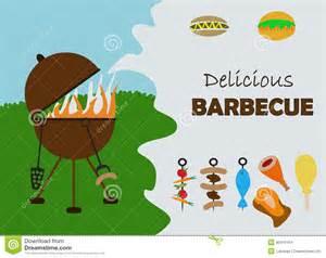 Backyard Theme Park Barbecue Invitation Card Stock Illustration Image 40441104