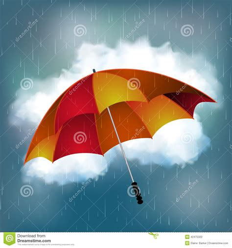 imagenes de otoño lluvioso fondo del d 237 a lluvioso y del paraguas ilustraci 243 n del