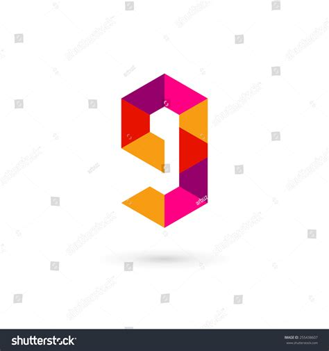Letter Number 9 Letter G Number 9 Mosaic Logo Icon Design Template Elements Stock Vector 255438607