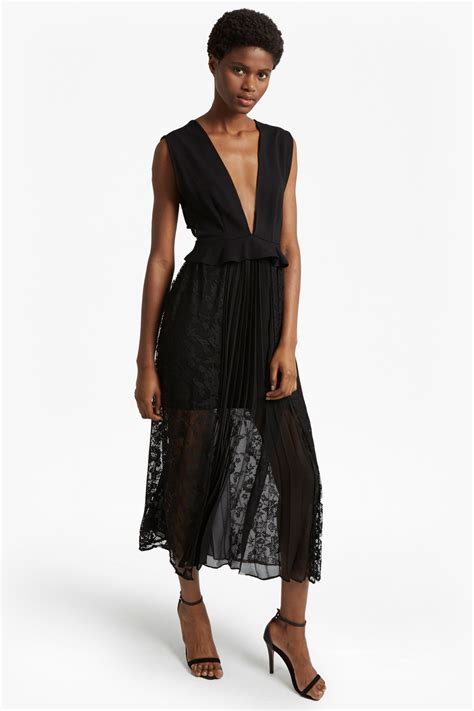 Maxy Dress Jersey Bunga pleated lace and jersey maxi dress dresses connection