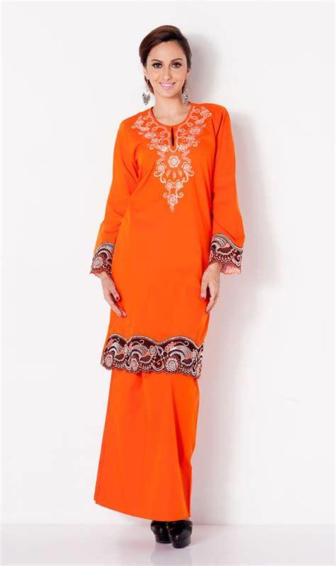 Baju Kara Twotone Dress plain cotton 2 tone embroidery modern baju kurung kebaya baju kurung