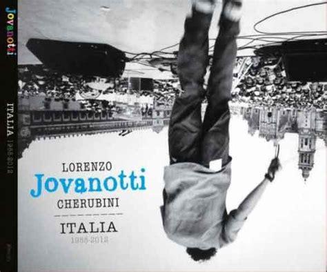 tracce di te testo italia 1988 2012 jovanotti tracklist copertina album