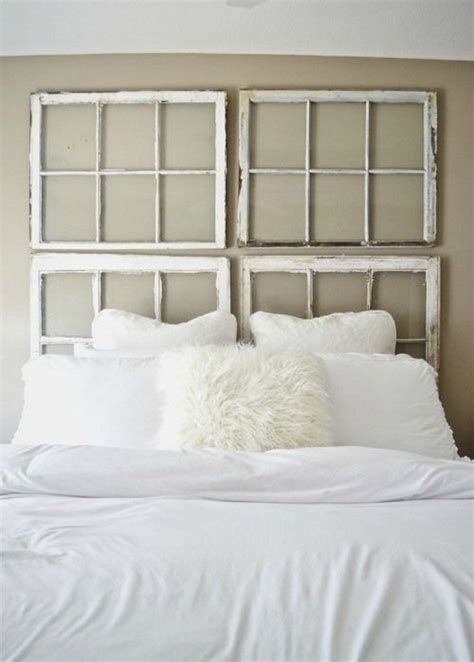 window frame headboard diy vintage antique window headboard