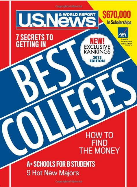 Us News World Report Mba Rankings 2015 by U S News College Rankings U S News College Rankings 2013