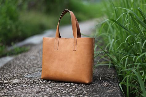 Tote Bag Handmade - handmade leather tote bag made to order