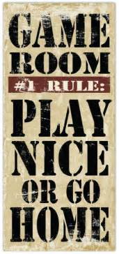 Game Room Rules - items similar to game room rules 8 x 18 typography word art print on etsy