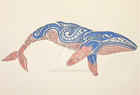 tribal whale by therebornwolf on deviantart