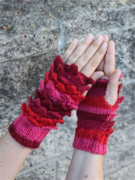 crocodile stitch knit pattern colorful mittens and gloves knitting patterns in the