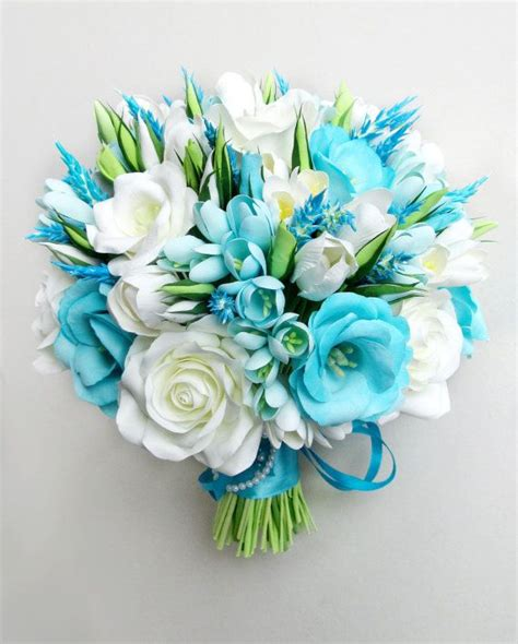 Blue Flower Wedding Bouquet by Blue And White Flowers Bouquet Www Pixshark Images