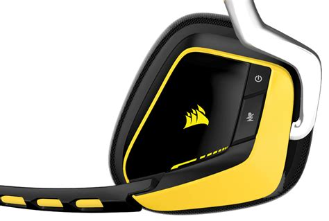 Corsair Headset Gaming Void Wireless Dolby 71 Special Edition Yellow 1 corsair gaming void yellow jacket edition wireless dolby 7