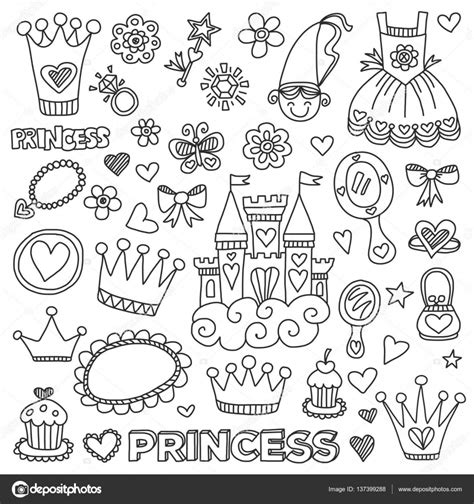 My Princess Doodle Elements Stock