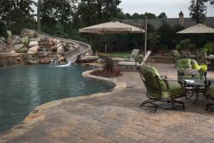 Installing Pavers In Backyard Pool Deck Pavers Turn Any Pool Into An Enticing
