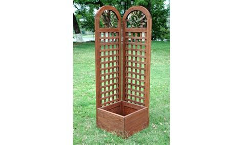 wooden trellis planter groupon