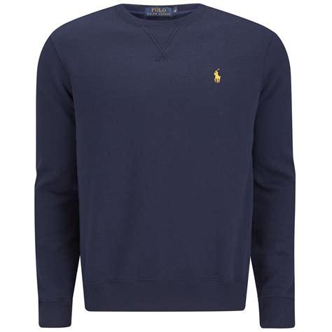 Sweater Hoodie Jumper Navy polo ralph s sleeve crew neck sweatshirt