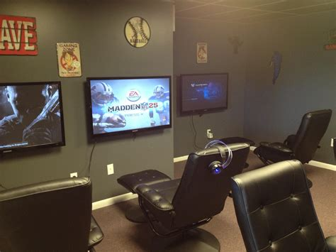 recliner gaming setup brilliant game room layout ideas and o 2048x1193