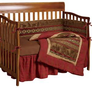 baby cascade lodge crib bedding set rustic baby
