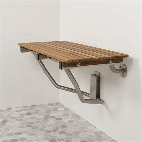 teak shower bench seat 32 quot wide teak ada wall mount shower seat teakworks4u